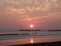 Coucher du soleil de Costa Rica Image stock