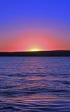 Coucher du soleil de couleur de Sterkfontein Images stock