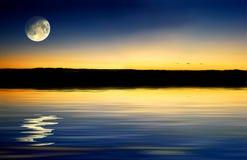 Coucher du soleil de crépuscule Images libres de droits