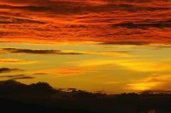 Coucher du soleil de cumulus Images libres de droits