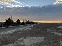 Coucher du soleil de désert Images libres de droits
