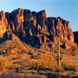 Coucher du soleil de désert Photos libres de droits