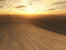 Coucher du soleil de désert Images stock