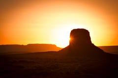 Coucher du soleil de désert Photos stock