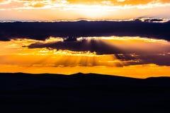 Coucher du soleil de désert de Siwa Photographie stock libre de droits