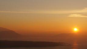 Coucher du soleil de désert en Irlande Image libre de droits