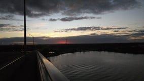 Coucher du soleil de Daytona Image stock