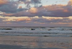 Coucher du soleil de Daytona Beach images stock