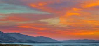 Coucher du soleil de Death Valley Photographie stock