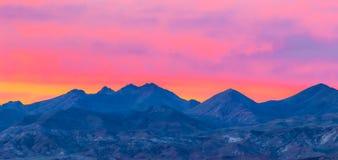 Coucher du soleil de Death Valley Photographie stock libre de droits
