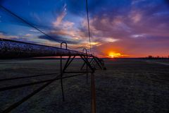 Coucher du soleil de delta Photographie stock libre de droits