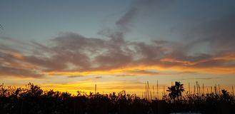 Coucher du soleil de Denia photos libres de droits