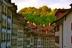 Coucher du soleil de dessus de toit Photographie stock libre de droits