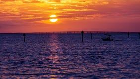 Coucher du soleil de Destin Photos libres de droits
