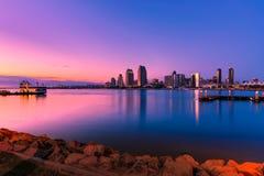 coucher du soleil de diego san de compartiment Photographie stock libre de droits