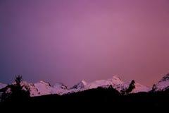 Coucher du soleil de Dolomiti Images stock