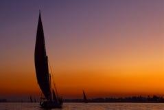 Coucher du soleil de Falluka Photo libre de droits