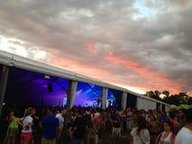 Coucher du soleil de festival Images libres de droits
