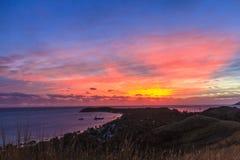 Coucher du soleil de Fijian Images libres de droits