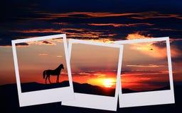 coucher du soleil de film images libres de droits