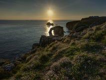 Coucher du soleil de fin de terres Photo stock