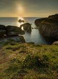 Coucher du soleil de fin de terres Photo libre de droits