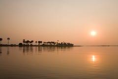 coucher du soleil de fleuve de kafuie Image libre de droits