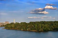 coucher du soleil de fleuve Potomac Photographie stock libre de droits