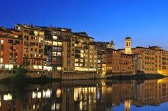 coucher du soleil de Florence Photographie stock
