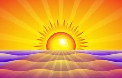 coucher du soleil de fond Image stock