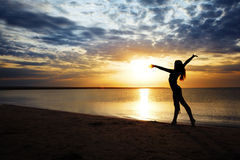 coucher du soleil de forme physique Photos stock