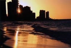 Coucher du soleil de Fortaleza Photo libre de droits