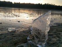 Coucher du soleil de glace Photographie stock libre de droits