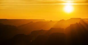 Coucher du soleil de gorge grande Images libres de droits