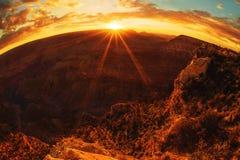 Coucher du soleil de gorge grande Images stock