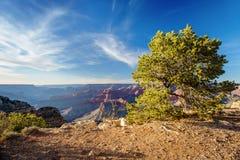 Coucher du soleil de gorge grande, Arizona Image stock