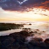 Coucher du soleil de grande île Photographie stock