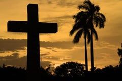 Coucher du soleil de Grenade Photos libres de droits