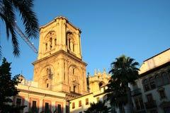 coucher du soleil de Grenade de cathédrale Photo stock