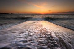 Coucher du soleil de Guernesey photographie stock libre de droits