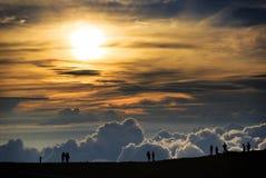 Coucher du soleil de Haleakala Image stock