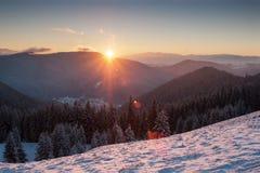 Coucher du soleil de Hdr Photographie stock libre de droits
