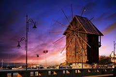 Coucher du soleil de HDR de ville de Nesebar Photographie stock libre de droits