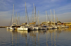 Coucher du soleil de Herzliya de port Images stock