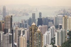 coucher du soleil de Hong Kong Image stock