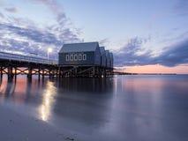 Coucher du soleil de jetée de Busselton, Australie occidentale Photographie stock