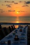 Coucher du soleil de Jimbaran Image stock