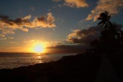 Coucher du soleil de Kakaako Photo libre de droits