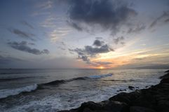 Coucher du soleil de Kakaako Images libres de droits