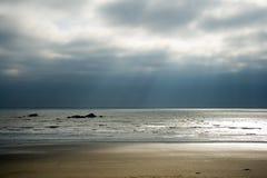 Coucher du soleil de Kalaloch Image libre de droits